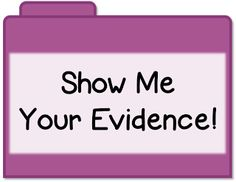 Keeping the Evidence Organized {great for standard based report cards, conferences, IEP meetings, RtI, and more!}