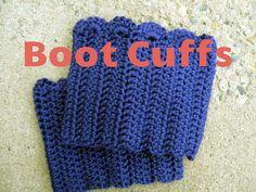 free crochet boot cuffs pattern