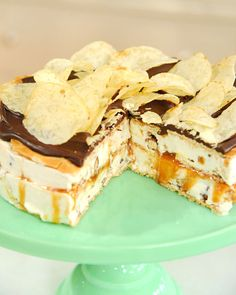 Late night snack ice cream cake