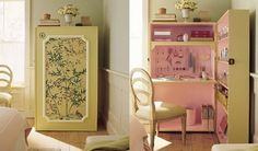 convert a hutch into your small space to do sewing, crafts or work.
