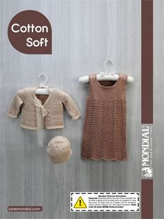 Cotton Soft Baby Jumper & Cardigan from  by Mondial at KnittingFever.com