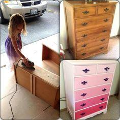 Cute kids room idea or hubby dresser.