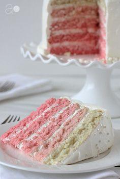Pretty Pink Ombre Surprise Cake