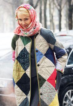 Too cute patchwork coat