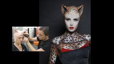 imat, theatrical makeup, leopard ladi, theatric makeup, makeup designs