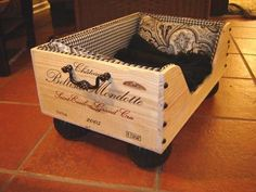 wine crate doggie bed