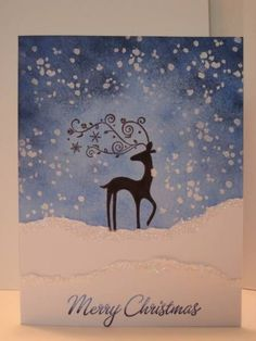Christmas Card, Stampin Up, Dancer stamp