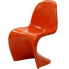 Verner Panton Style Orange Chair - overstock knockoff