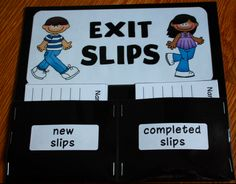 Exit Slips- What did you learn today?