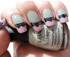 30 Stylish Nail Art Designs with Bows