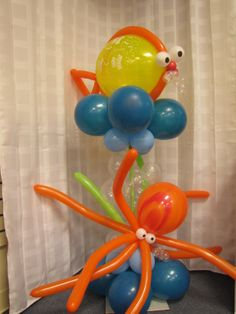 baby shower decorations for boy balloon sculpture | balloon sculpture bubble guppy balloon character monster balloons owl ...
