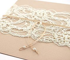 6. Invite Inspiration #modcloth #wedding something with lace