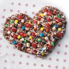 Heart-Shaped chocolate pizza!