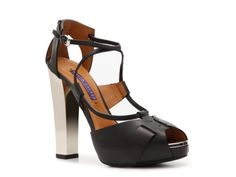 Ralph Lauren Collection Kacy Leather Peep Toe Sandal #DSW #LUXE810