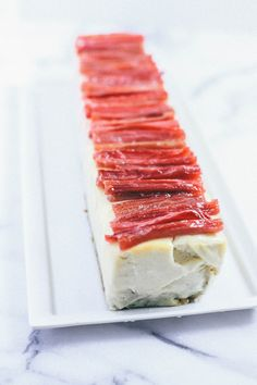 cardamom cheesecake with rosewater rhubarb   the baking bird