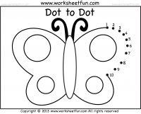 Preschool - Dot to Dot - 8 Worksheets