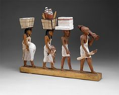 Group of offering bearers  Date: ca. 1981–1975 B.C. 12 dyn Amenemhat I  Tomb of Meketre TT 280  Accession Number: 20.3.8