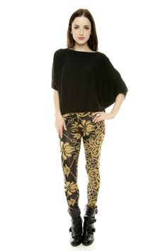 Shoptiques — Gold Cord Leggings