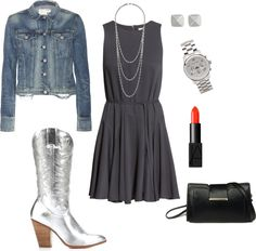 Dress up those silver boots!