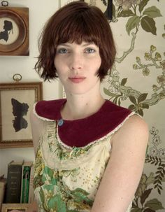 collar by Sarah Montgomery  model, Afton