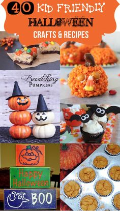 40 KID FRIENDLY Halloween crafts and recipes!