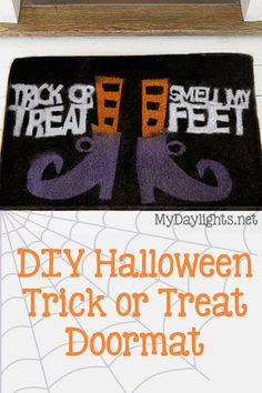 DIY Halloween Door Mat made with my Silhouette (by cutting a stencil)