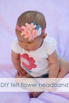 DIY felt flower headband #craft #tutorial