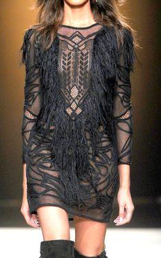 Isabel Marant, black dress, boho, hippy, style, fashion
