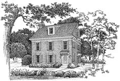 Eplans Colonial Revival House Plan - Perfect for a Small Lot - 1588 Square Feet and 2 Bedrooms from Eplans - House Plan Code HWEPL03343