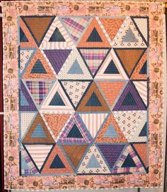 Dad's Quilt by Dani Lawler.  Blue ribbon, 2013 San Francisco Quilters Guild