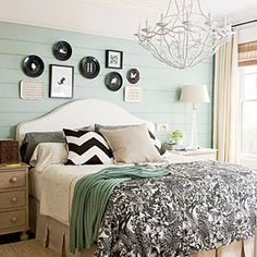 Master Bedroom...love these colors!