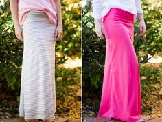 DIY Maxi Skirt with Yoga Waist Band - just made this in black and I love it. Super easy and pretty quick too.