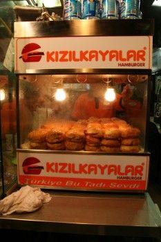 Musti's favourite - islak hamburger. My favourite Kizilkayalar durum - yagli olsun...