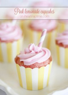 Pink lemonade cupcakes with pink lemonade icing!
