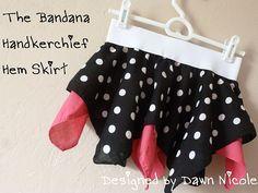 handkerchief skirt tutorial