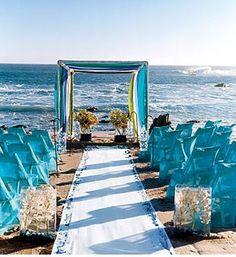 beautiful beach wedding setup