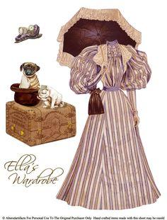 vintag, steampunk paper, paperdol, ella wardrob, free paper dolls, papers, free printabl, paper dolls free, victorian steampunk