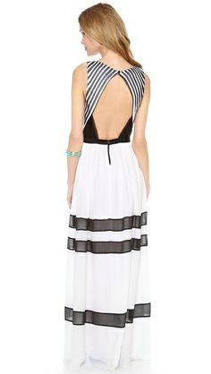 alice + olivia Rae Pleated Long Dress