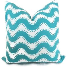 for patio: Turquoise Wave Designer Indoor Outdoor Decorative by PopOColor, $50.00
