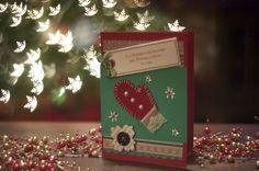 Christmas Cards, #Christmas, #Cards christmas cards, christma card, card idea, mitten card, christma glove