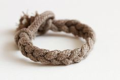 A DIY Rope Bracelet made from a J. Crew shopping bag!