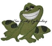 Princess Frog Embroidered Applique Patch