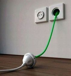built in extension cord outlet
