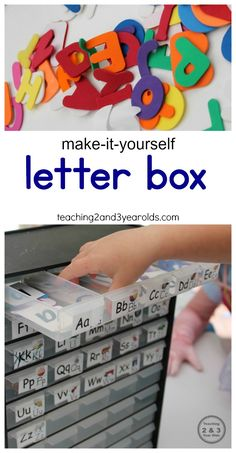 Learning the alphabet - make your own letter box!