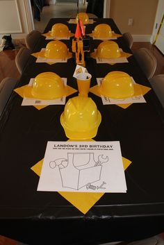 Little boys birthday party with a Construction theme.