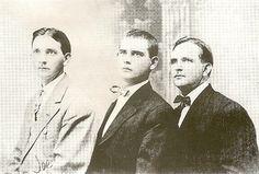 Joe, Tennyson (Tennis) and Troy Hatfield sons of Anse hatfield