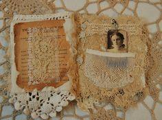~ vintage fabric & lace treasure book❧♡°