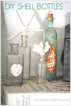 DIY Shell Bottles