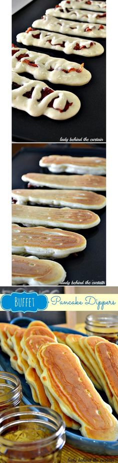 "Bacon pancake dippers - something different to try. Click on the picture which takes you to the link, then scroll past the pictures and click on the ""Get the full step-by-step recipe here!"" link."
