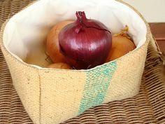 Burlap Coffee Sack Bucket